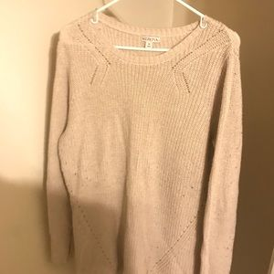 Mossimo Cream Loose-Knit Sweater